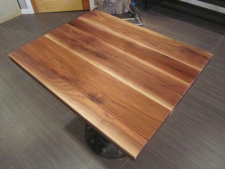 Restaurant Table Tops Laminated Walnut Planks