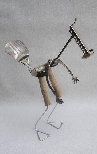 Odd Bird Man Creature Whimsical Repurposed Sculpture: Odd Birds, Repurposed Sculpture, Fab Art, Repurpo Sculpture, Creatures Whimsical, Photo Shared, Men Creatures, Birds Men, Whimsical Repurposed