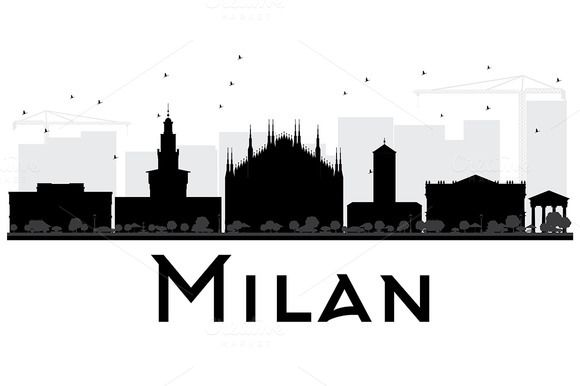 #Milan #City #Skyline #Silhouette by Igor Sorokin on @creativemarket
