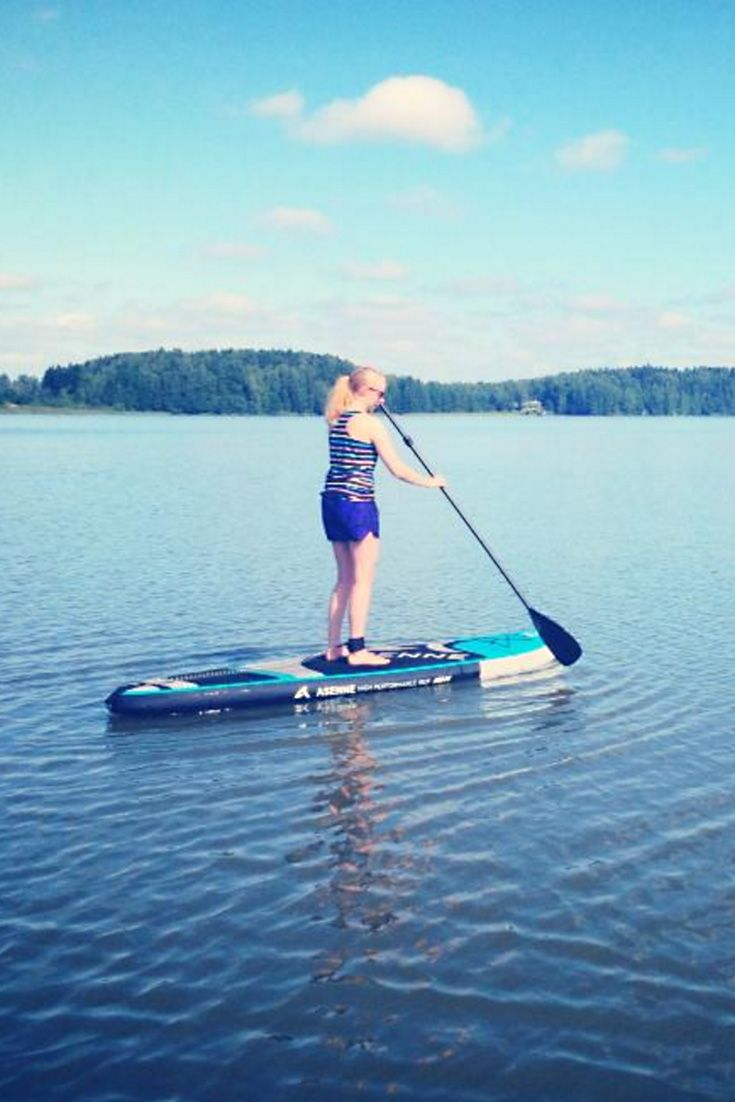 We have #SUP boards in the summer. Guided courses and board rental available. #gustavelund #travel #lakefun
