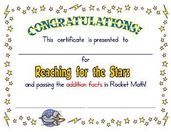 Certificates for Rocket Math