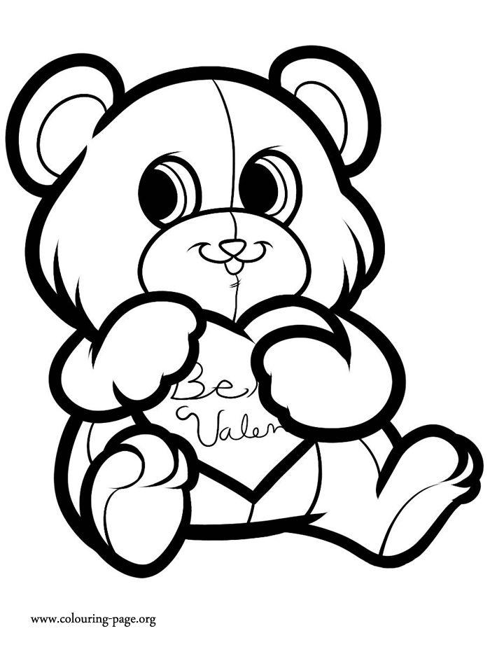 teddy kids valentines day coloring pages for kids printable valentines day coloring pages for kids