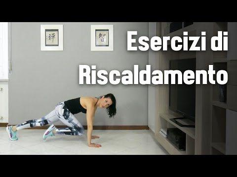 Esercizi di riscaldamento pre-workout - YouTube