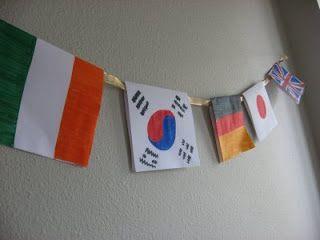 World flags banner