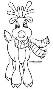 cute reindeer color page