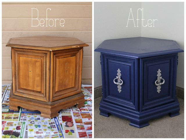 Doctor Who Inspired Side Table Redo #doctorwho