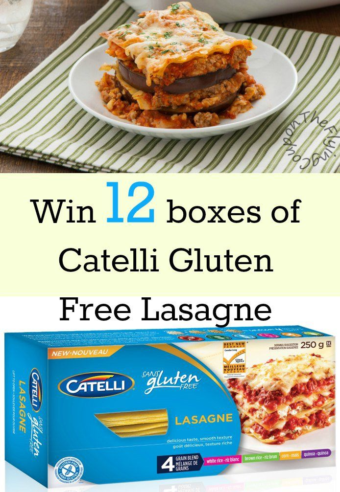 Win 12 boxes of Catelli Gluten Free Lasagne. Contest is open to Canadian (excluding Quebec) residents only. Giveaway ends 10/23/2015. The Flying Couponer | Family. Travel. Saving Money.