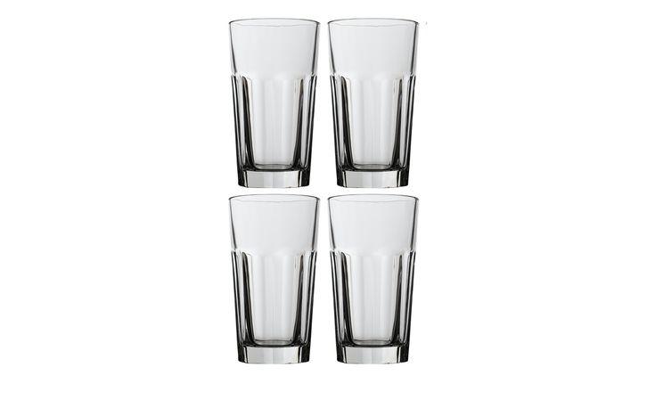 LEONARDO Gläser groß 4er-Set  Rock - transparent/klar - Glas - 9 cm - 16 cm - 9 cm - Höffner Jetzt bestellen unter: https://moebel.ladendirekt.de/kueche-und-esszimmer/besteck-und-geschirr/glaeser/?uid=67f6f823-1acf-5d3a-9ba4-bc52a377fa87&utm_source=pinterest&utm_medium=pin&utm_campaign=boards #geschirr #kueche #glaeser #geb #eff. #stapelbar. #esszimmer #jahreszins #besteck Bild Quelle: hoeffner.de