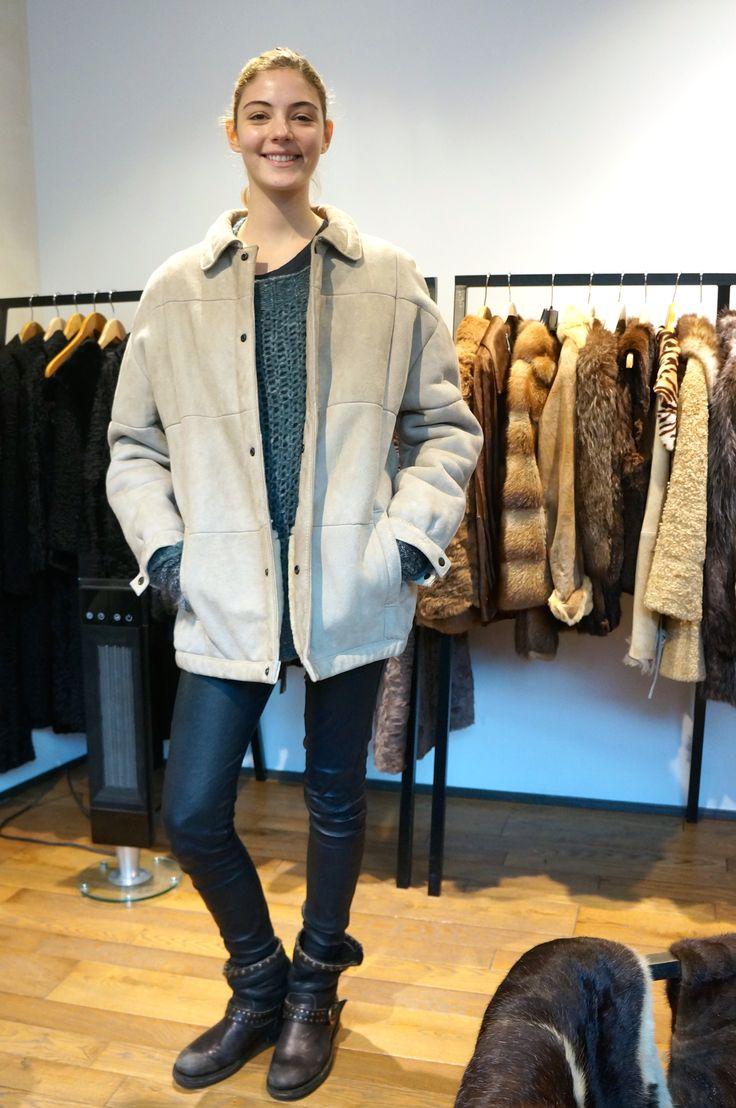 Our super model Carla looks sooo casual and efforless chic in this sheepskin coat!  #vintage #le132turenne #paris #furaddict #furlover #winterfashion #winterstyle #fashionshop #shoppinginParis #whatiwore #luxeforless #inspiration #ootd #wiwt #winterwear #furobessed #attitude #depotvente #dopefashion #ateliervintage #liketkit #urbanoutfitters #uoonyou#dope #mode #moda #wishlist #newyear #2015