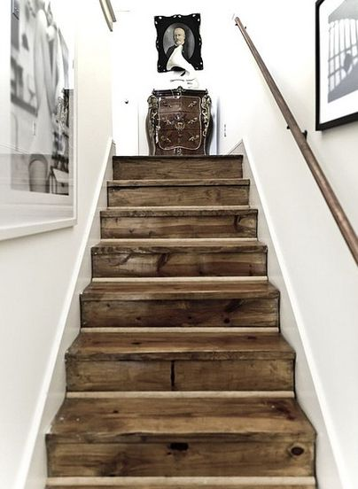 Reclaimed wood...love this look!