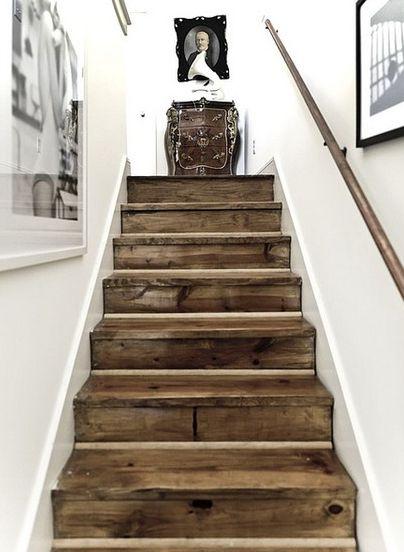Reclaimed wood...love this look!