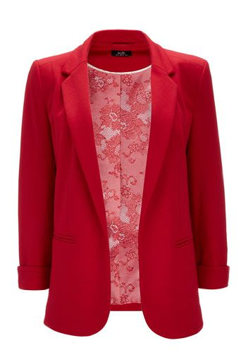 Red Blazer from Wallis. NOT black!