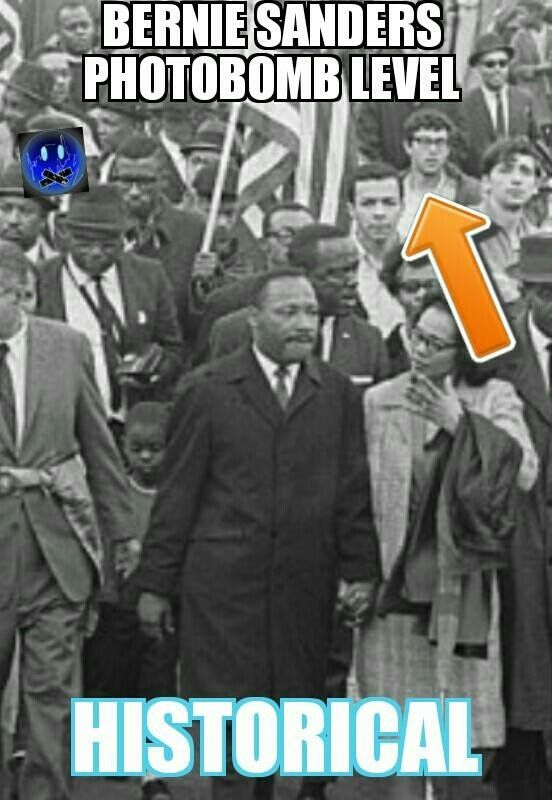 It is NOW proven that this photo is Sanders. He marched in Selma that day along with MLK Jr. We are proud of Sanders lengthy years as an activist for social justice. We are proud of his longstanding record. We are disgusted by the HRC campaign deliberate smears & so is the photographer, Danny Lyon. #BernieSanders #FeelTheBern
