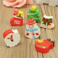 Cartoon Cute Kid Student School Children Stationery Christmas Xmas Mini Eraser