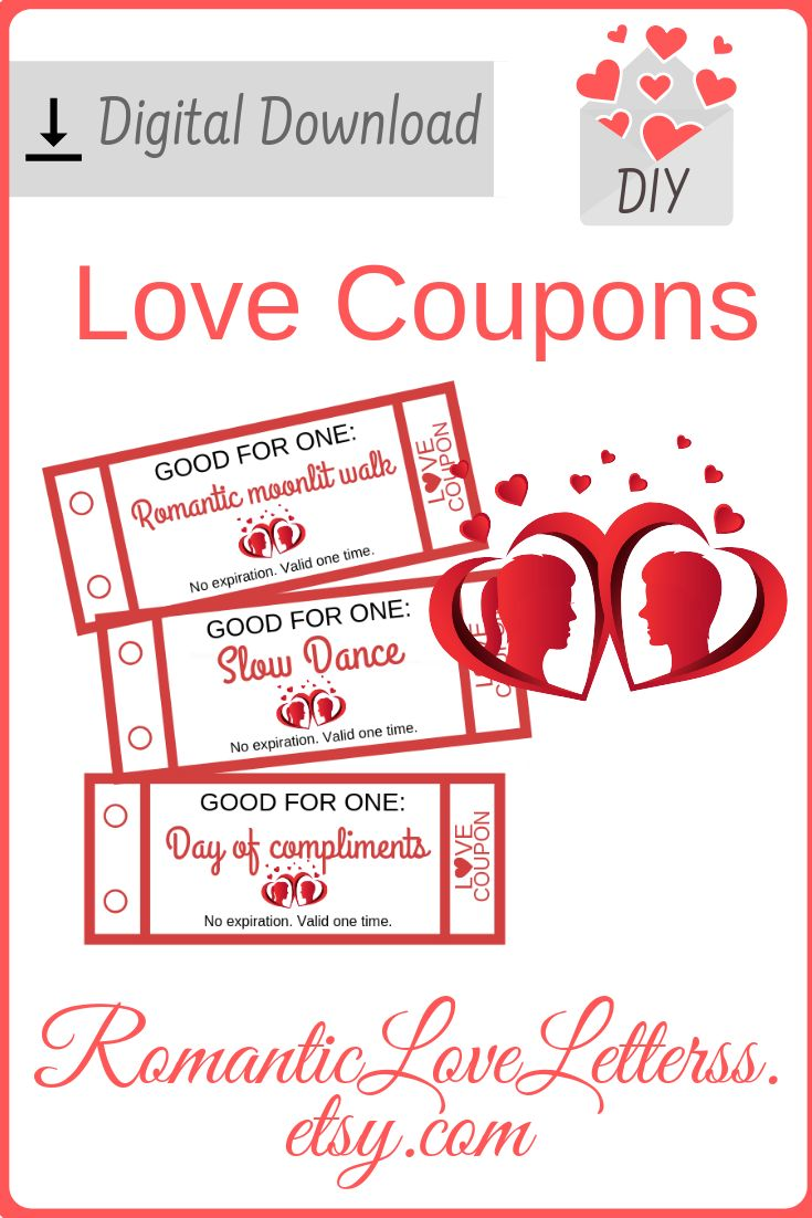 52 Printable Love Coupons For Him DIY Romantic Coupon Book
