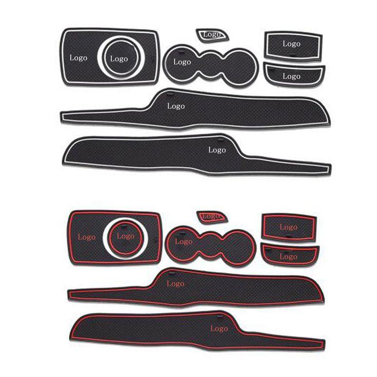 Rubber Car Door Groove Mat Gate Slot Pad Non-slip Mat Cup Holder Floor Mats For Ford Fiesta Car Interior Decoration  sc 1 st  Pinterest & 116 best Fiesta images on Pinterest   Parties Ford and Ford focus markmcfarlin.com