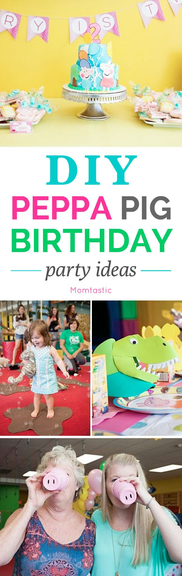 Pe peppa pig online coloring pages - Diy Peppa Pig Birthday Party Ideas