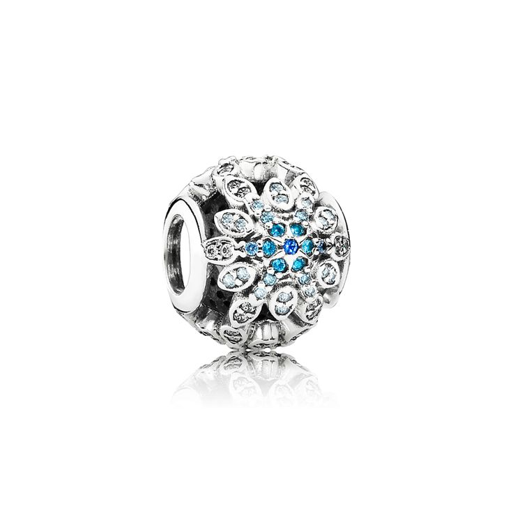PANDORA | Crystalized Snowflakes, Blue Crystals & Clear CZ