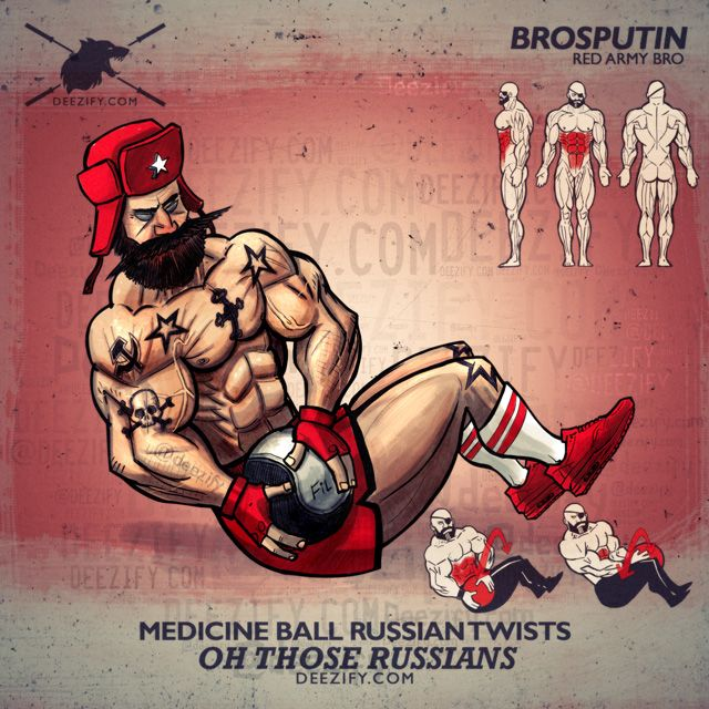 russian twists ab workout - ab exercise