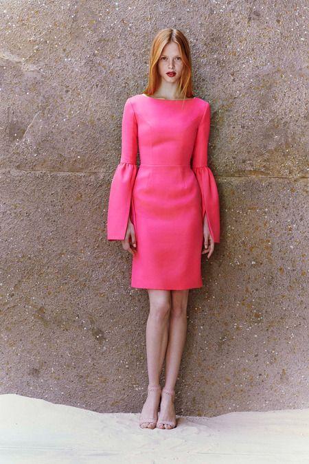 Honor resort-2015 pink dress