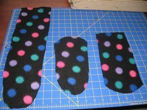 Making fleece socks