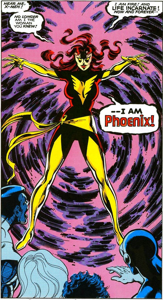 Phoenix of the x-men- Jean Grey's power is so incredible- practically infinite...                                                                                                                                                      More