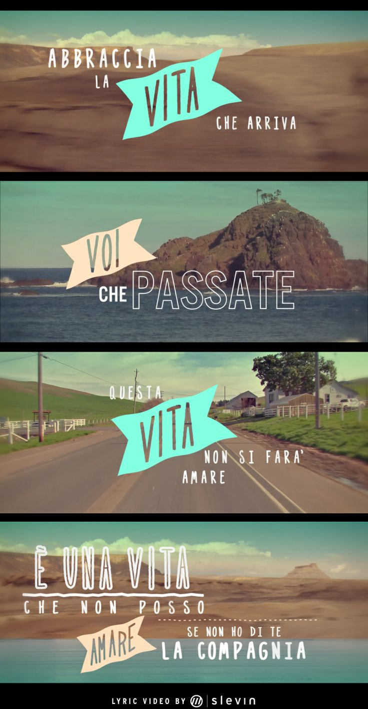 """This is a #lyric #video we did for the #song """"E' una vita"""" of Nesli. Check it: http://www.slevin.it/7677/Nesli-una-vita-Lyric-videoclip #slevinismore #nesli #vita"""