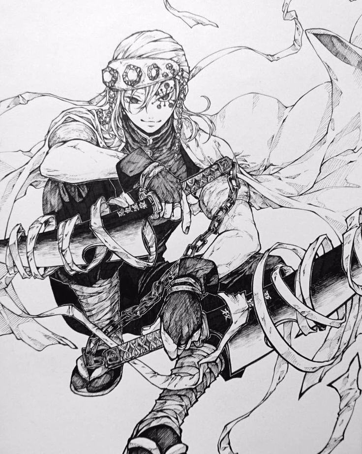 Zenitsu X Uzui Tengen Zenitsu Sketches Anime Sketch Anime Demon Dia bangga dan menyayangi ketiganya tentu saja. zenitsu x uzui tengen zenitsu