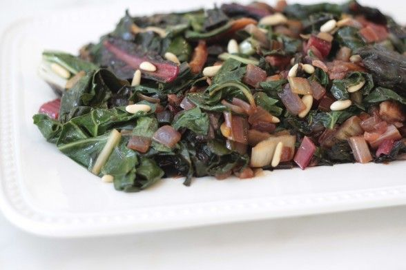 sauteed swiss chard with dried apricots and pine nuts recipe | Pamela ...