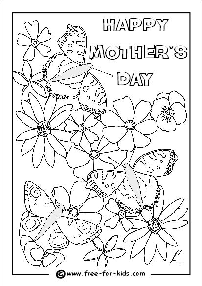 28 best Mothers Day Coloring Page images on Pinterest | Children ...