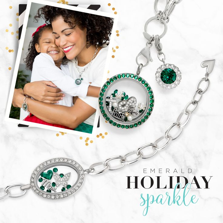 Origami Owl Winter Collection is here! Add some sparkle to your holiday jewelry with the new emerald collection! Click to get the details, pin for later!