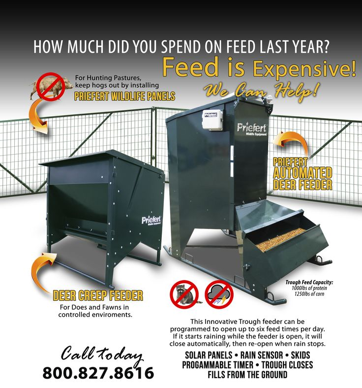 Priefert Deer Chutes, Deer Creep Feeders, Deer Automatic Feeders