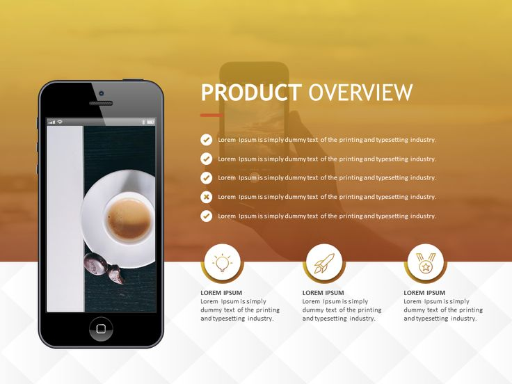 Introduce your mobile app with this PowerPoint slide