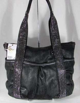 NWT Kathy Van Zeeland Handbag Bag Purse Shimmer Me Top Zip Tote Black