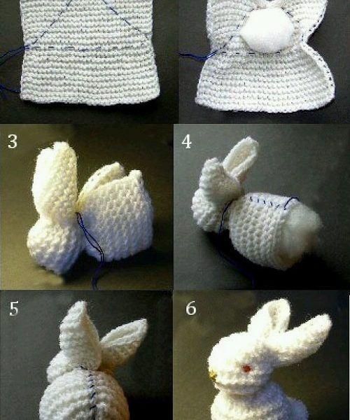 Şiş ile Örgü Tavşan Yapımı