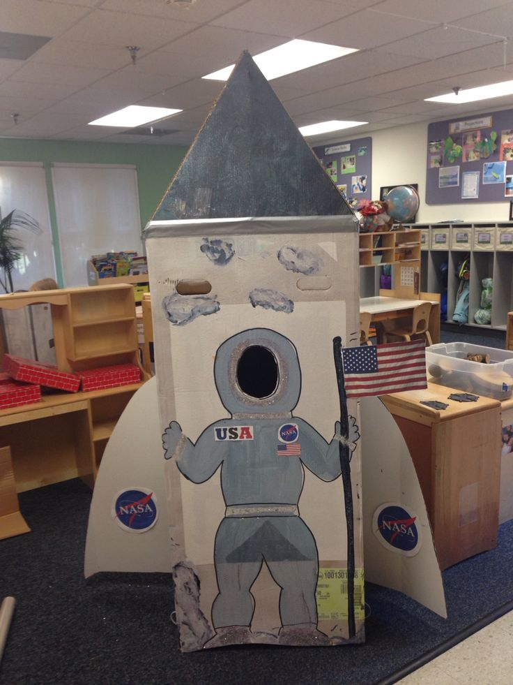 Rocket ship for dramatic play area