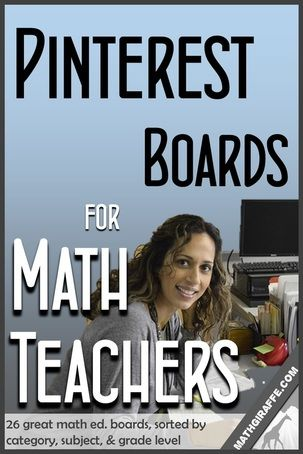 Pinterest Boards for Math Teachers