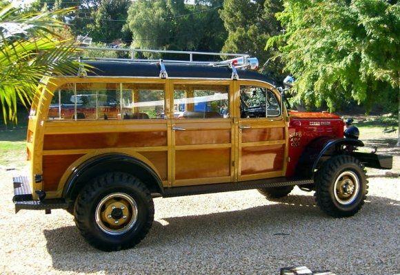 1949 Dodge Power Wagon 4x4 Woody Fire Truck Rear: Fire Trucks, Dodge Power Wagon, Cars, Wagon 4X4, 4X4 Woody, Woody Fire, Powerwagon, 1949 Dodge