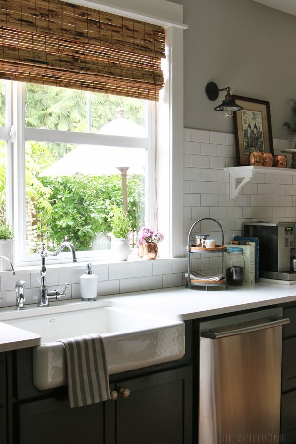 The Inspired Room Kitchen - Farmhouse Sink - Summer House Tour
