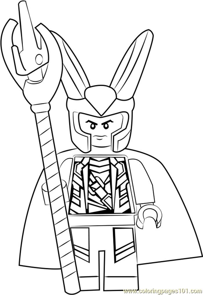 Lego Loki Coloring Page From Lego Coloring Pages Category Find