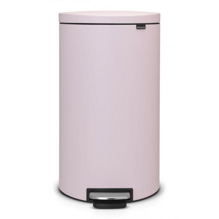 Brabantia Pedal Bin Flatback 30L Mineral Pink - Binopolis