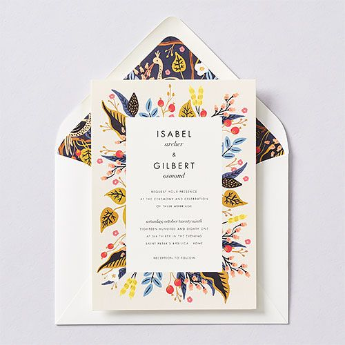 Egret Garden Wedding Invitation