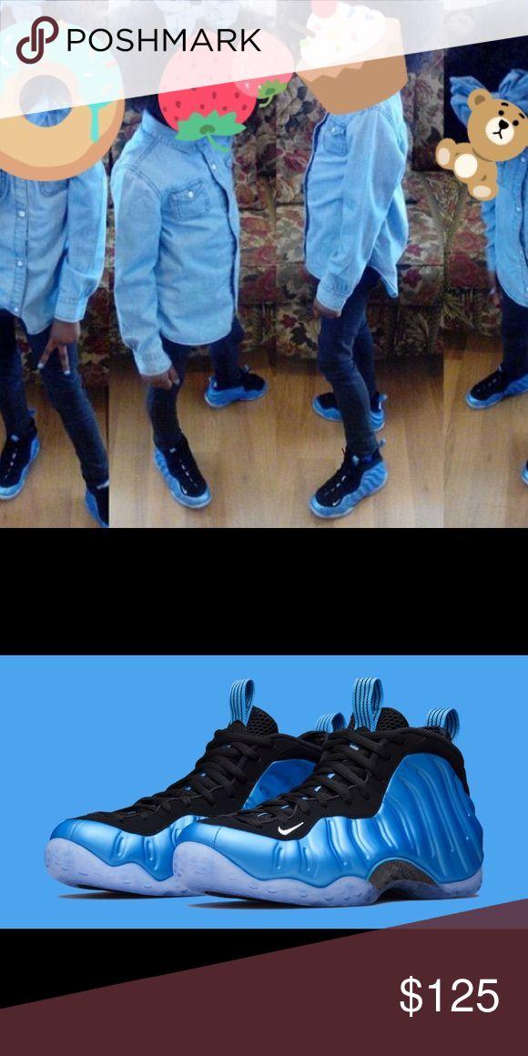 nike foamposites blue youth foamposites