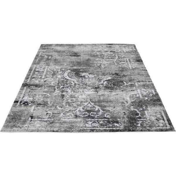 Transitional Silver & Gray Rug - 5′3″ × 7′7″ (£165) ❤ liked on Polyvore featuring home, rugs, plush rugs, grey area rug, plush area rugs, grey patterned rug and gray rug