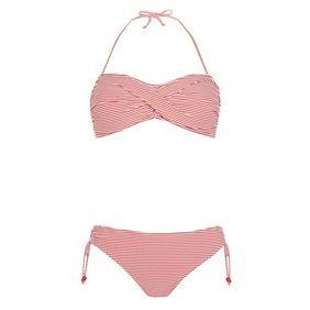 Rood wit gestreepte bikini (set) met 'draai' €8,00
