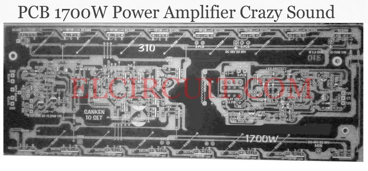 PCB 1700W Power Amplifier