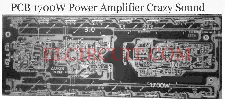 PCB 1700W Power Amplifier