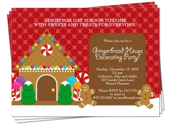 17 best images about gingerbread house party on pinterest Gingerbread house decorating party invitations