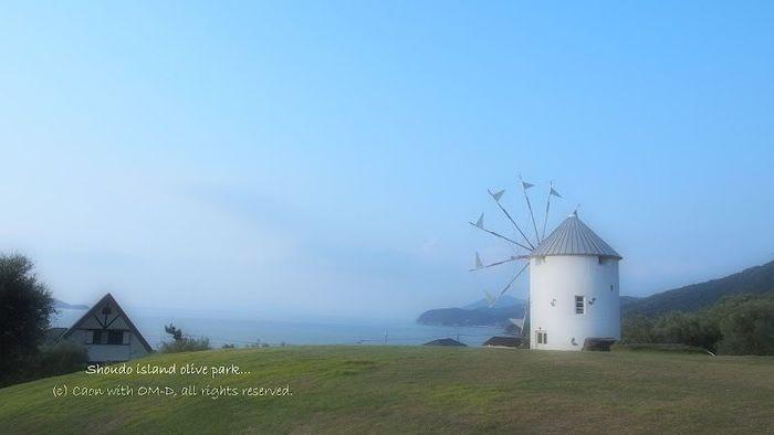 小豆島と言えば、この風車のある穏やかな風景が有名ではないでしょうか。 のんびりとした時間の流れる素敵な島ですね。