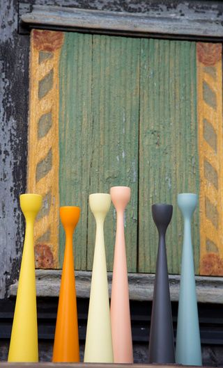 Rolf™ candle holders by FREEMOVER.se. Design: Maria Lovisa Dahlberg. Three sizes, 45 colors, FSC certified wood. @freemoverdesign